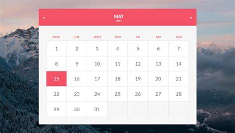 css calendar tutorial 15 beautiful css calendar code snippet ginva