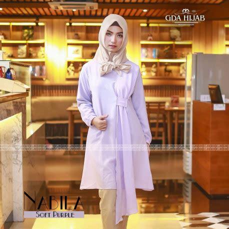 Nabila Tunik by Nabila Tunik By Gda Soft Purple Baju Muslim Gamis Modern