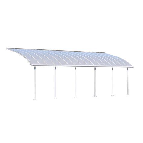 Palram Joya 10 ft. x 30 ft. White Patio Cover Awning