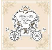 Wedding Invitation With Carriage Design Vector 01