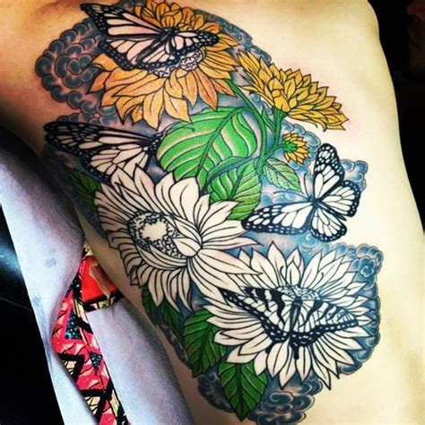 butterfly and sunflower tattoo designs butterfly and sunflower designs creativefan