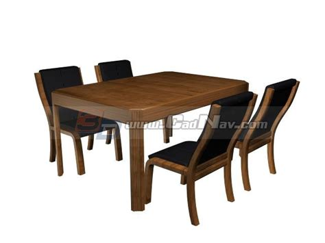 free table and chairs restaurant table and chairs 3d model 3ds max files free