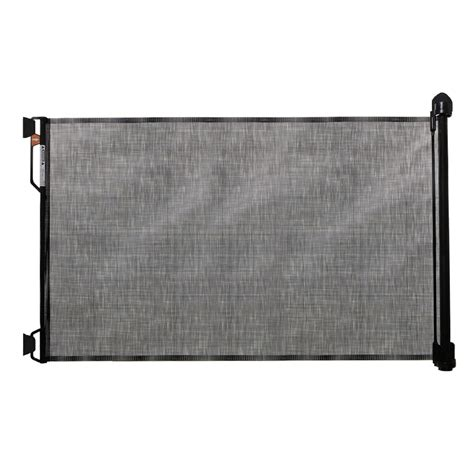 retractable gate retractable gate in black up to 55w 34h dogfolks