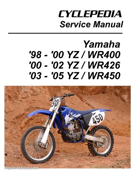 motocross bike repairs yamaha yz wr 400 426 450f cyclepedia printed motorcycle