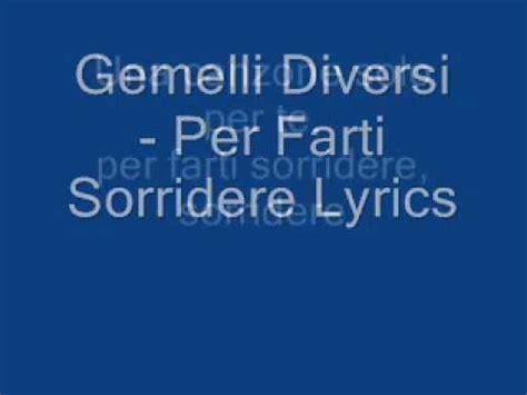 gemelli diversi lyrics gemelli diversi per farti sorridere lyrics
