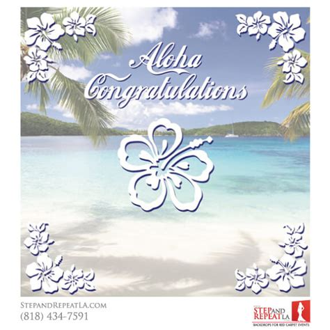 Wedding Congratulations Hawaiian by Joanna And Eric Wedding Bannerstep And Repeat La