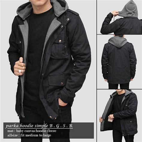 Jaket Parka Hoodie Black jaket parka hoodie simple bgsr black jaket parka jaket