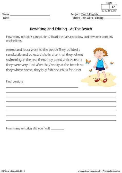printable worksheets english year 3 english worksheets 187 editing english worksheets