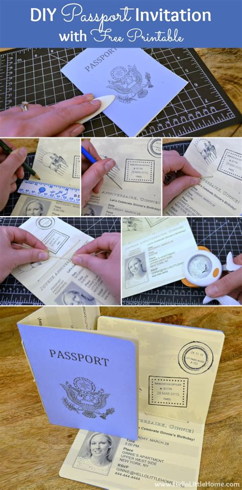 passport graduation announcement diy printable template make a diy passport invitation using my free printable and