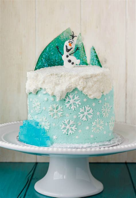 Decorating Frozen Cake by Frozen Theme Cake The Cookie Writer