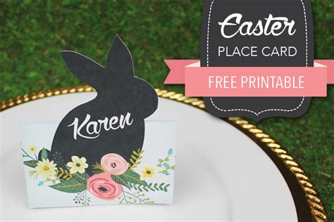 free easter place card print