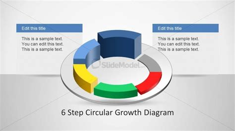 4 step circular growth diagram for powerpoint slidemodel 6233 06 6step circular growth diagrams 1 slidemodel