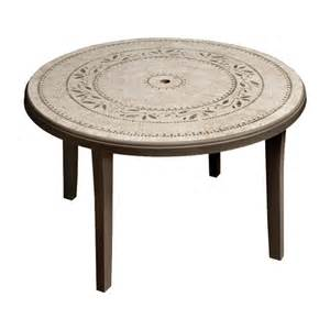 Inexpensive Patio Tables Cheap Durable Grosfillex Resin Patio Table From Lowes Tables Dining Furniture Outdoor