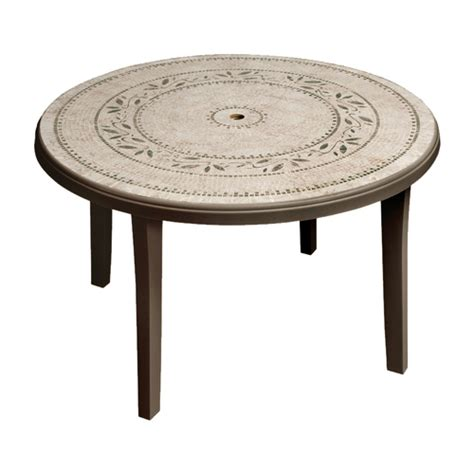 Cheap Patio Tables Cheap Durable Grosfillex Resin Round Patio Table From