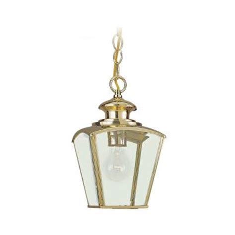 Discontinued Light Fixtures Sea Gull Lighting New Castle 1 Light Outdoor Polished Brass Pendant Fixture Discontinued 6023 02