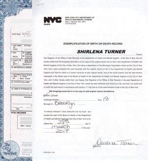 birth certificate letter of exemplification nyc birth certificates for foreign use
