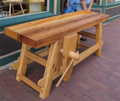 homemade work bench woodwork workbench diy vise pdf plans