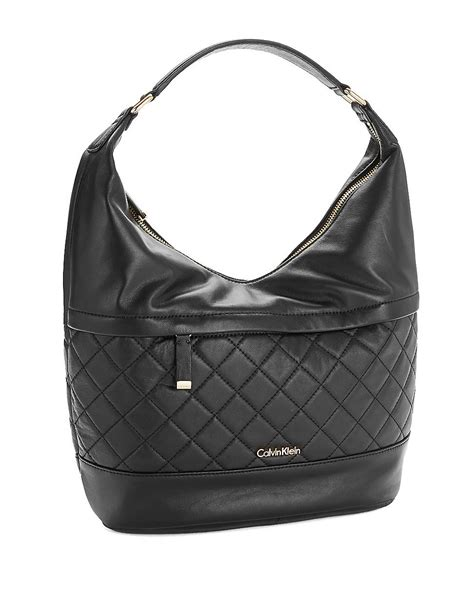 Calvin Klein Quilted Handbag by Calvin Klein Quilted Hobo Bag In Black Lyst