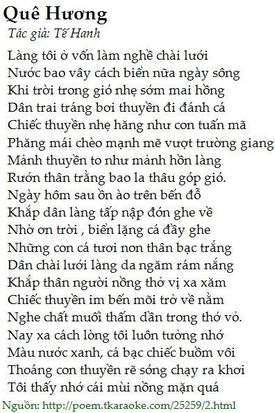 loi bai tho  huong te hanh