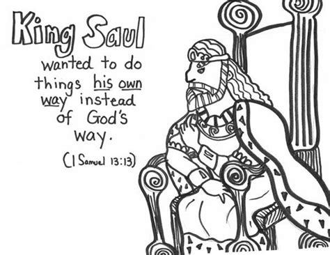 10 Best Images About King Saul Disobeys God On Pinterest King Saul Coloring Pages