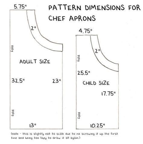 apron pattern dimensions child size apron sewing projects some day pinterest