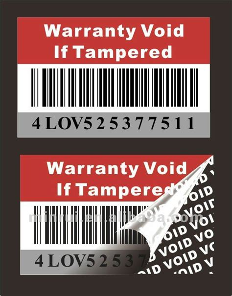 printable void labels custom void warranty stickers for small round void
