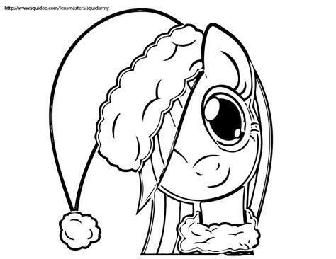 My Little Pony Coloring Pages Christmas | free christmas coloring pages squid army