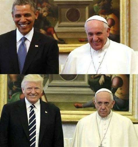 fact check pope francis smiled  president obama