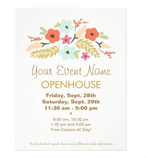 invitation flyer templates free free open house invitation template flyer templ on free