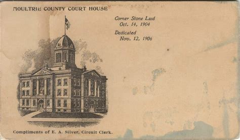 Shelby County Il Circuit Clerk Search Moultrie County Postcards Sullivan Moultrie County Court House