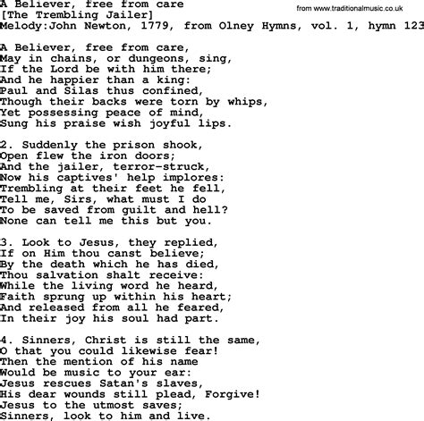 lyrics pdf song lyrics for a believer free from care