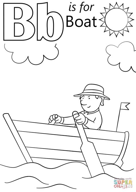 bat boat coloring page 95 colouring page of letter b with bat click the