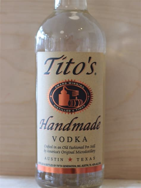 Handmade Vodka - tito s handmade vodka tipsy