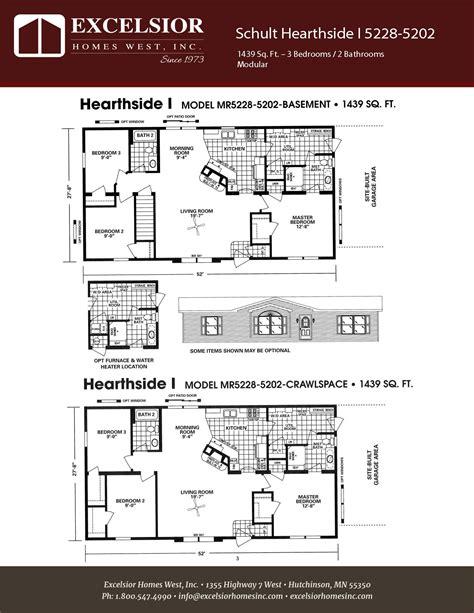manufactured home floor plan 2008 schult hearthside schult hearthside i excelsior homes west inc