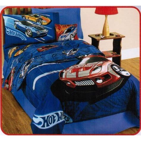Hot Wheels Twin Comforter Sheets Bedding Set Cars Boys New Wheels Bedding