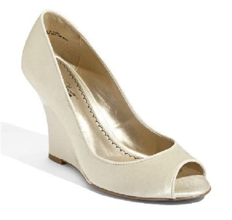 Ivory Wedge Wedding Shoes by Ivory Bridal Shoes Wedges Wedding Inspiration