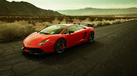 car lamborghini red red lamborghini gallardo on the road wallpaper car