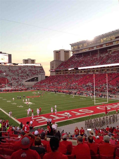 section 8a ohio stadium section 8a rateyourseats com