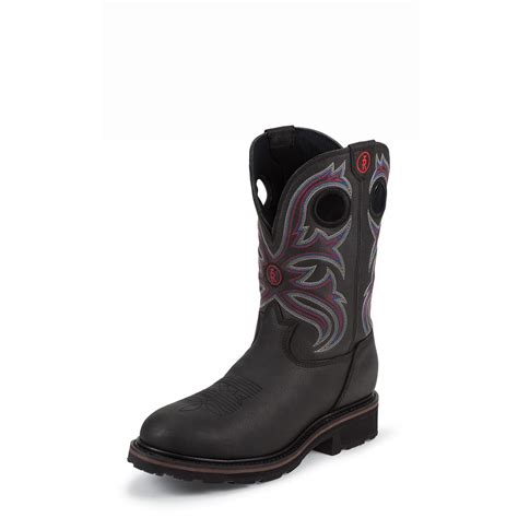 mens black steel toe work boots s tony lama 11 quot grizzly 3r waterproof steel toe