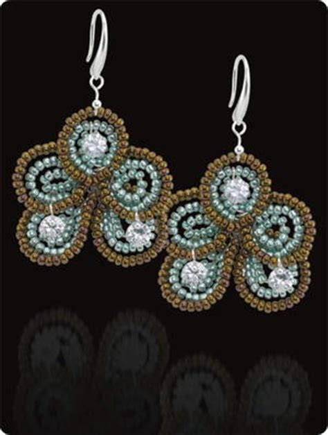 beaded flower earring patterns 101 free beading patterns favecrafts