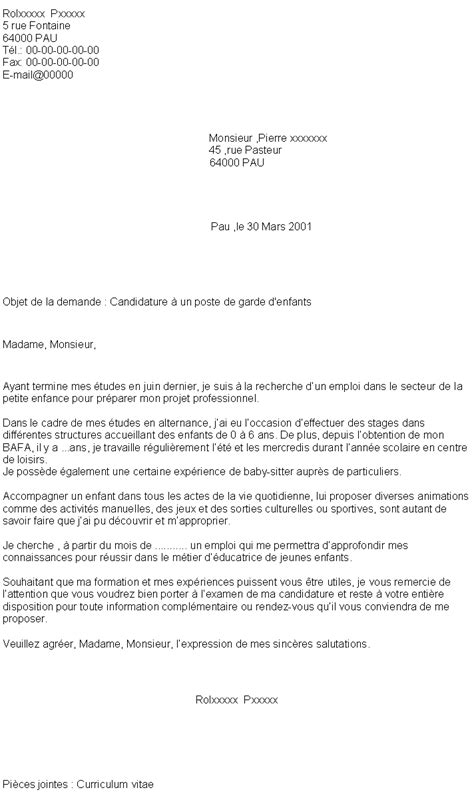 Lettre De Motivation Stage Garderie Pdf Lettre De Motivation Garderie