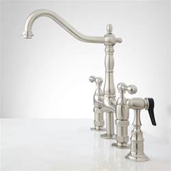 Bridge Kitchen Faucets Bellevue Bridge Kitchen Faucet With Brass Sprayer Lever