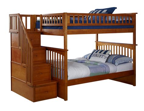 Bunk Beds Deals Atlantic Furniture Columbia Caramel Latte Staircase Bunk Bed The Home