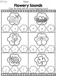 spring kindergarten literacy worksheets common core