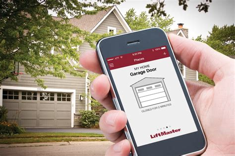 Garage Door Technology Open Your Garage With Your Smartphone Liftmaster Myq Technology D And D Garage Doors