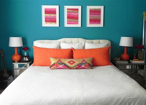 teal and orange spare bedroom ideas for the home pinterest