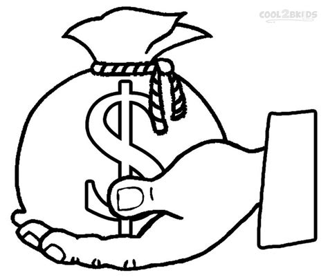 Money Coloring Pages For Kindergarten