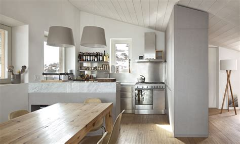 cucine in acciaio inox cucina acciaio e legno
