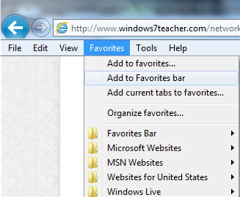 top bar of internet explorer disappeared 13 favorites bar icons windows 7 images windows 7