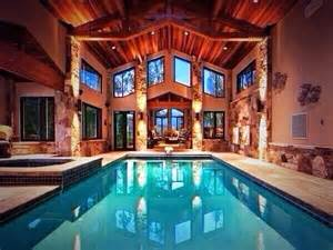 indoor pool log cabin swag swag